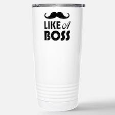 Mustache Like A Boss Travel Mug