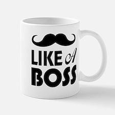 Mustache Like A Boss Mug