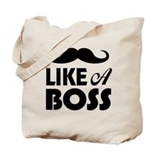 Mustache Like A Boss Tote Bag