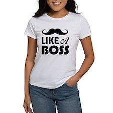 Mustache Like A Boss T-Shirt