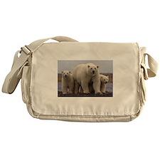polar Bear Family Messenger Bag
