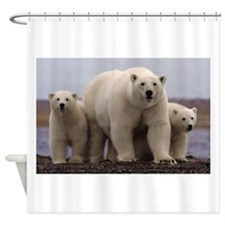 polar Bear Family Shower Curtain