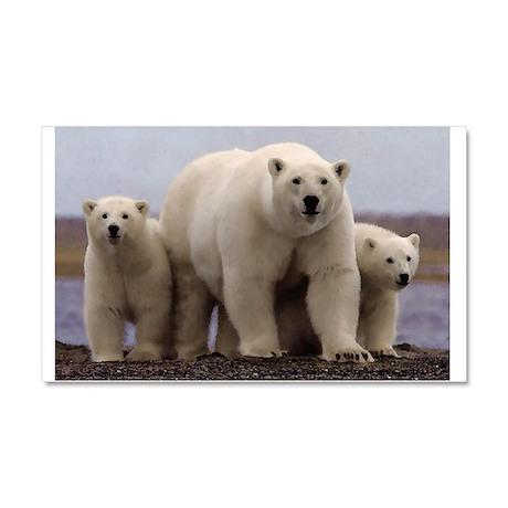 polar Bear Family Car Magnet 20 x 12