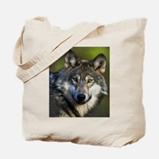 Lone Grey Wolf Tote Bag