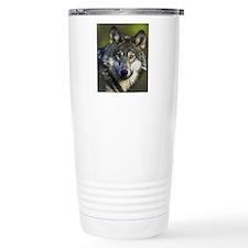 Lone Grey Wolf Travel Mug