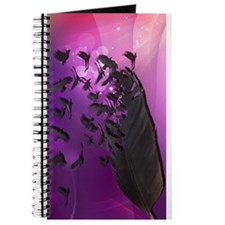 Crow Feather Purple Journal
