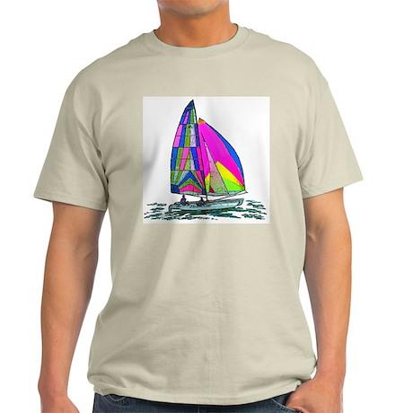 Hobie Cat Design Ash Grey T-Shirt