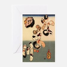 Japanese Cats Greeting Cards (Pk of 10)