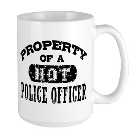 Property of a Hot Police Officer Large Mug