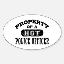 Property of a Hot Police Officer Decal