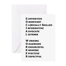 What is a Social Worker? Greeting Cards (Package o