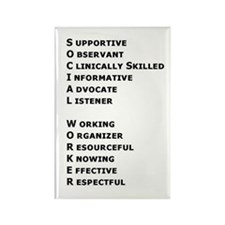 What is a Social Worker? Rectangle Magnet (100 pac