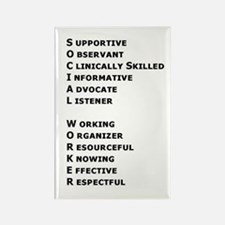What is a Social Worker? Rectangle Magnet (10 pack