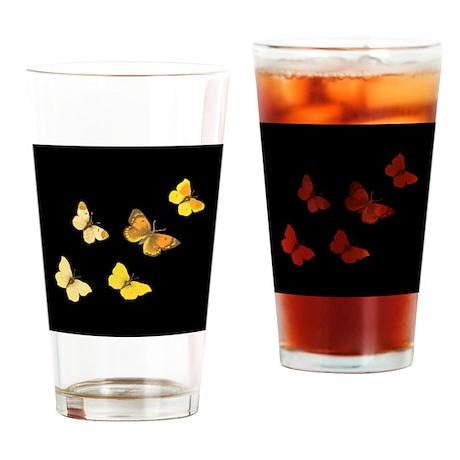 Yellow Butterflies Drinking Glass