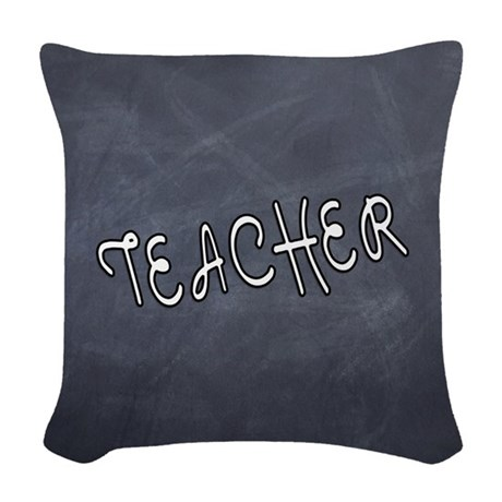 Teachers Blackboard Woven Throw Pillow