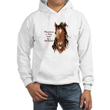 Happiness loved by a Horse Humorous Quote Hoodie S