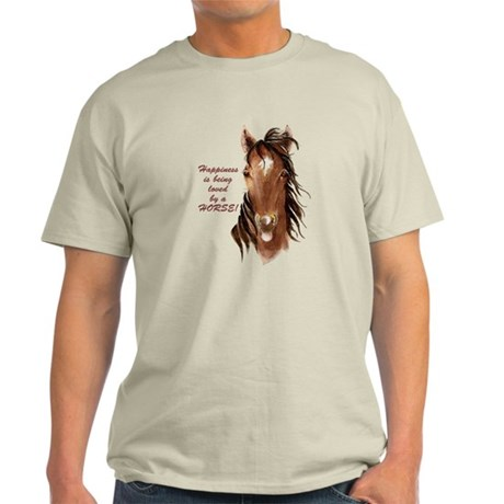 Happiness loved by a Horse Humorous Quote T-Shirt