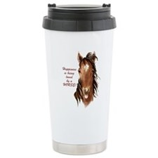 Happiness loved by a Horse Humorous Quote Travel M