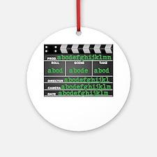 Movie slate Ornament (Round)