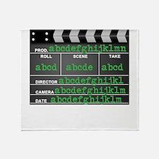 Movie slate Throw Blanket