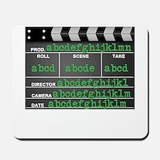 Movie slate Mousepad