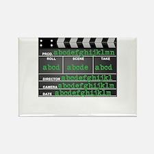 Movie slate Rectangle Magnet (10 pack)