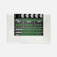 Movie slate Rectangle Magnet