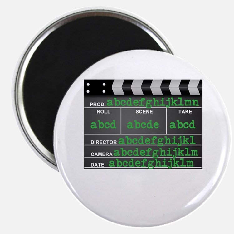 "Movie slate 2.25"" Magnet (10 pack)"