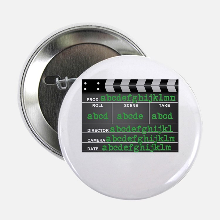 """Movie slate 2.25"""" Button (100 pack)"""