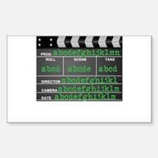 Movie slate Decal