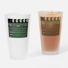 Movie slate Drinking Glass