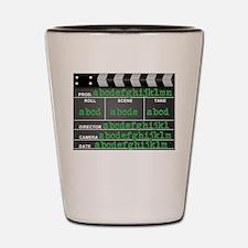 Movie slate Shot Glass