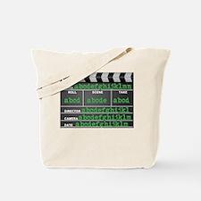 Movie slate Tote Bag