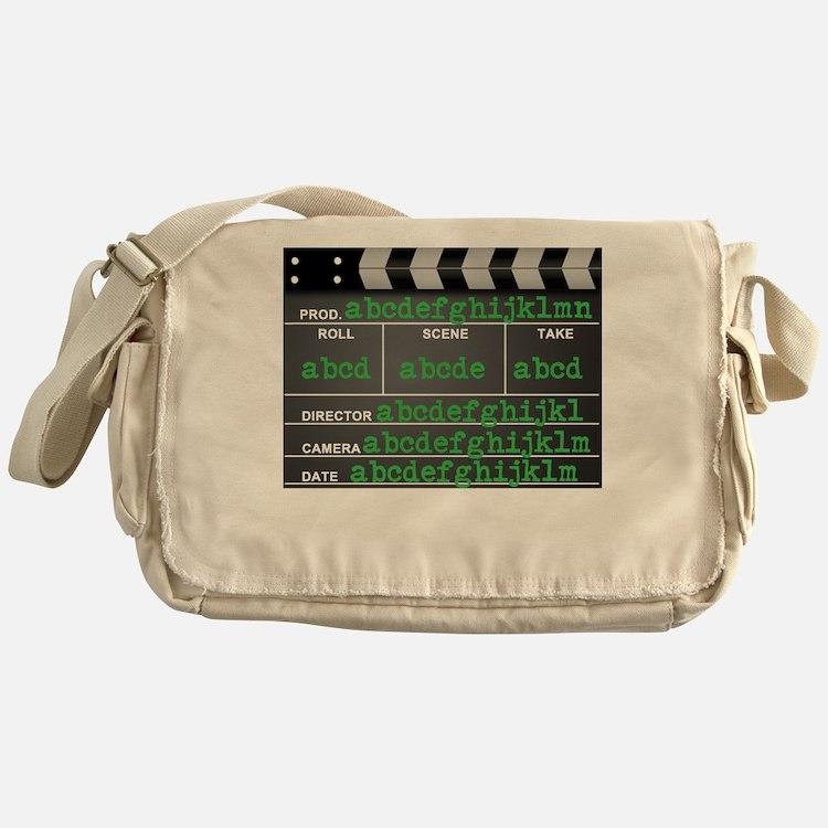 Movie slate Messenger Bag