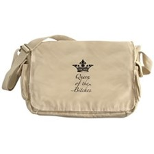 Queen of the Bitches with a crown Messenger Bag