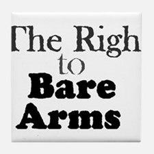 Right to Bare Arms Tile Coaster