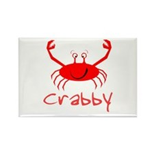Crabby Crab Rectangle Magnet (10 pack)