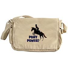 Cute Pony Power Equestrian Messenger Bag