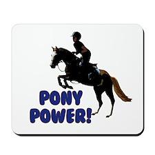 Cute Pony Power Equestrian Mousepad