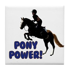 Cute Pony Power Equestrian Tile Coaster