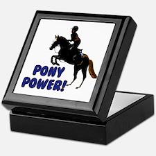 Cute Pony Power Equestrian Keepsake Box
