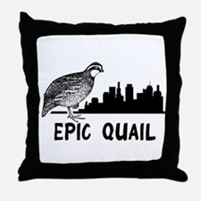 Epic Quail Throw Pillow