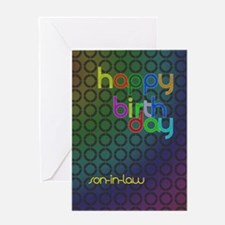 Birthday card for son-in-law Greeting Card