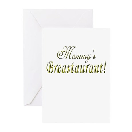 Mommy's Breastaurant! Greeting Cards (Pk of 10