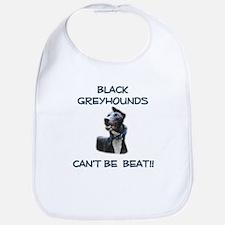 Black Greyhound Kid's Clothes Bib