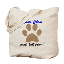 Chow Chow Mans Best Friend Tote Bag
