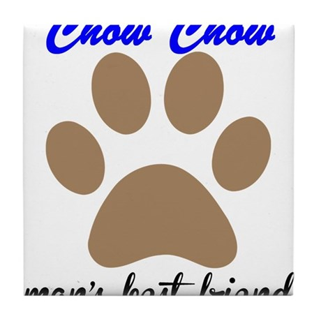 Chow Chow Mans Best Friend Tile Coaster