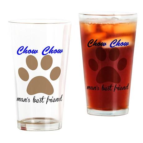 Chow Chow Mans Best Friend Drinking Glass