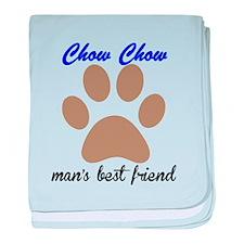 Chow Chow Mans Best Friend baby blanket