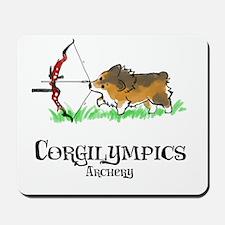 Corgilympics: Archery Mousepad